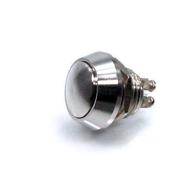 Push-button compact, stainless, M12